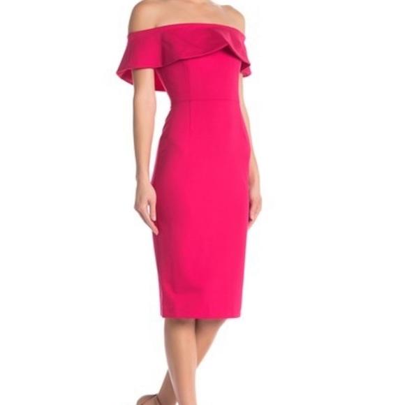 Nordstrom Dresses & Skirts - NWOT Hot pink midi off the shoulder dress size M
